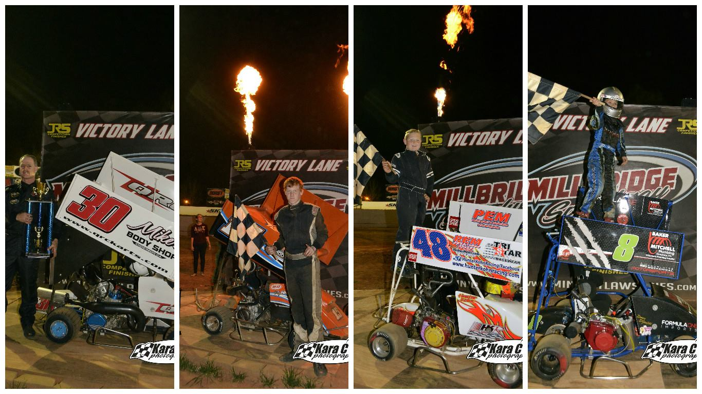 Hubert, Hayes, Kohn and Dyszelski Find Victory Lane!